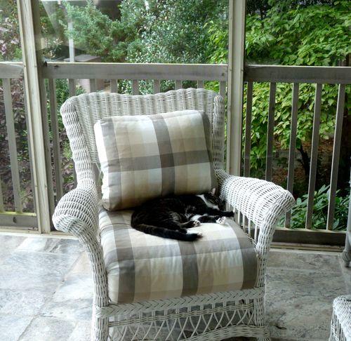 Tantebeatrice on porch