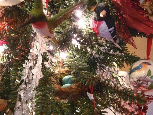 Bird nest and bird ornaments